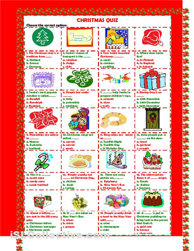 free christmas picture quiz questions and answers Google
