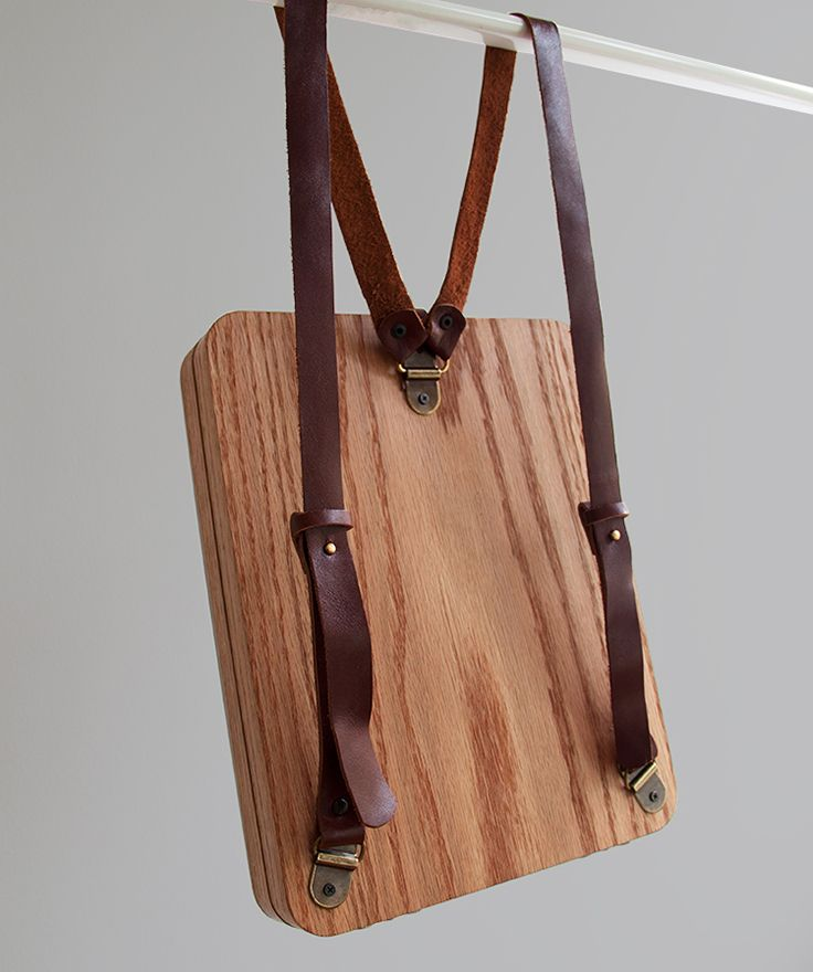 b8c7ad48674 Pineapple Stitched Oak Wood Backpack by Grav Grav -  695