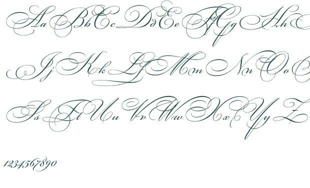 Discover Ideas About Cursive Fonts Alphabet