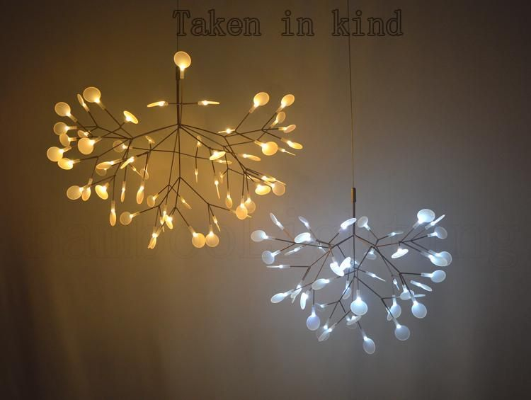 Small Heracleum Leaves Led Pendant Lamp Tree Branch