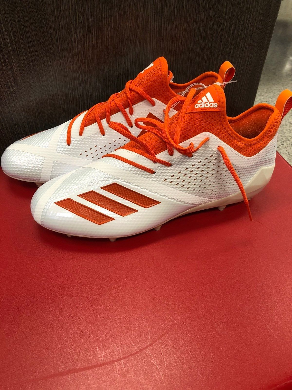 Adidas Adizero 5 Star Cleats White And Orange With Gloss Bottom Brand New Willing To Negotiate Adidas Football Cleats Cool Football Boots Adidas Cleats