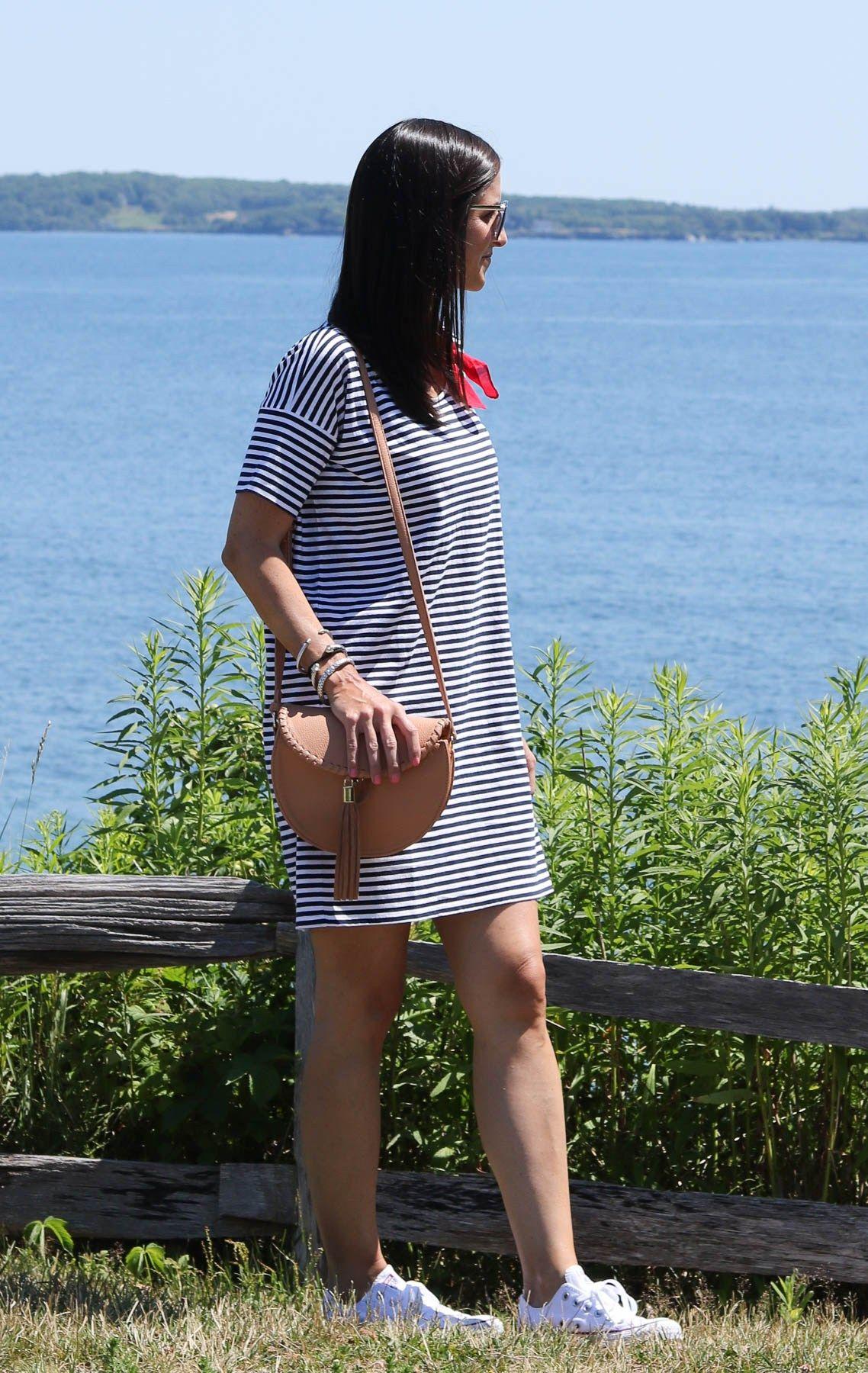 @everlane striped dress