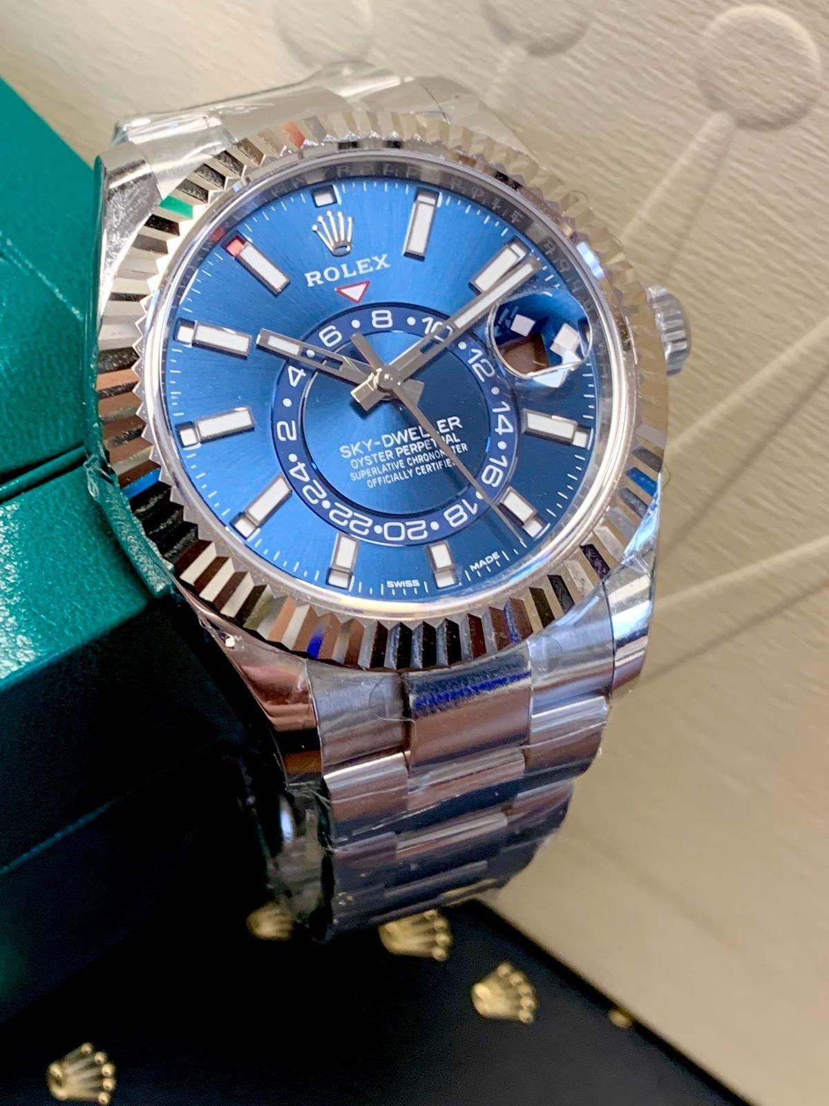 Rolex Sky-Dweller Stainless Steel Blue Dial 326934