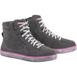Photo of Alpinestars J-6 Waterproof Ladies Motorcycle Shoes Gray Pink Purple 42 Alpinestars