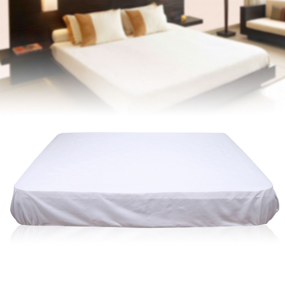 pure white mattress cover protector polyester soft comfortable