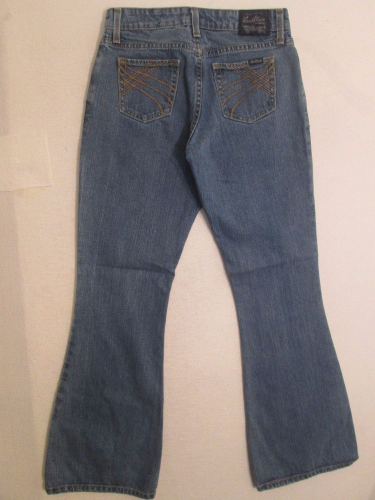 Levi Strauss * Women's Jeans Stretch Low Rise Flare Juniors Size 3 28X30 #482  #LeviStraussSignature #Flare