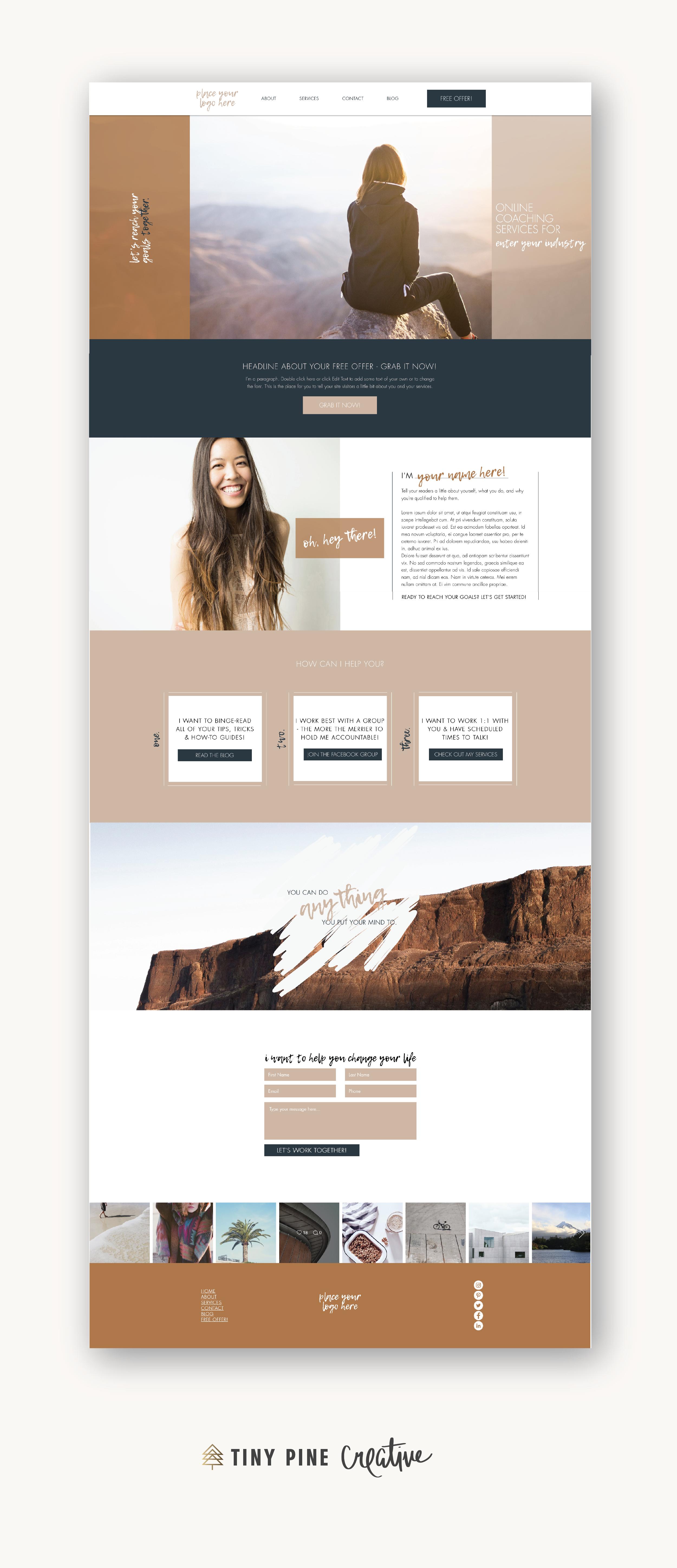 Desert Wix Website Template Tiny Pine Creative In 2020 Wix Website Templates Small Business Website Design Wix Templates