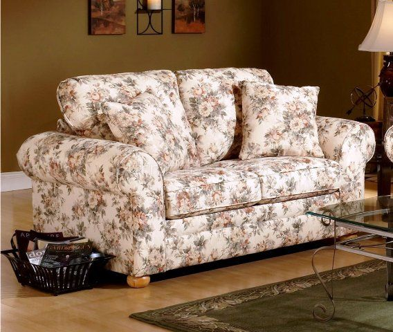Fl Pattern Fabric Traditional Sofa Furniture In 2019
