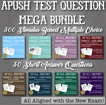 APUSH Stimulus Based Multiple Choice Short Answer Text Bank