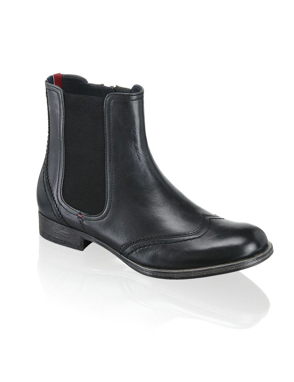 sports shoes c98bd 68bc7 Tommy Hilfiger Heather schwarz   Ankle Boots & Stiefeletten ...