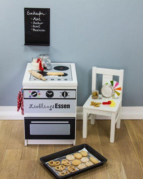 Kinderküche: Möbelfolie für IKEA Malm Mini-Kommode von Limmaland - Kleben. Spielen. Leben. auf DaWanda.com