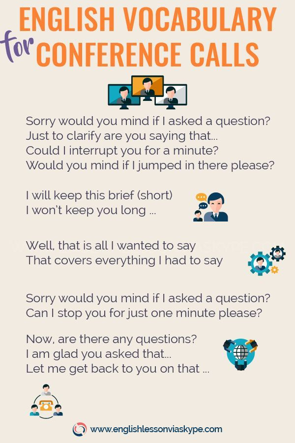 Conference Call English Vocabulary Business English Common