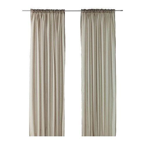 Rollos Gardinen Vorhänge details zu ikea vivan gardinenpaar in beige 145x300cm vorhang