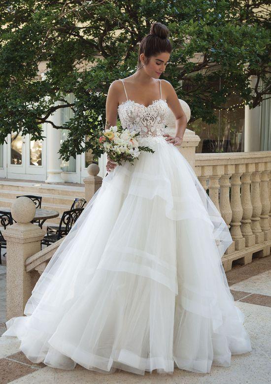 Tüllkleid mit Perlendetails zur Hochzeit