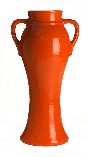 """Bauer Pottery 22"""" Rebekah Vase in Bauer Orange - call for details 888-213-0800"""