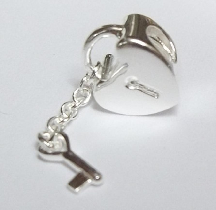 Key to My Heart 925 Solid Sterling Silver Pandora Bead European Charm #Pandora #European