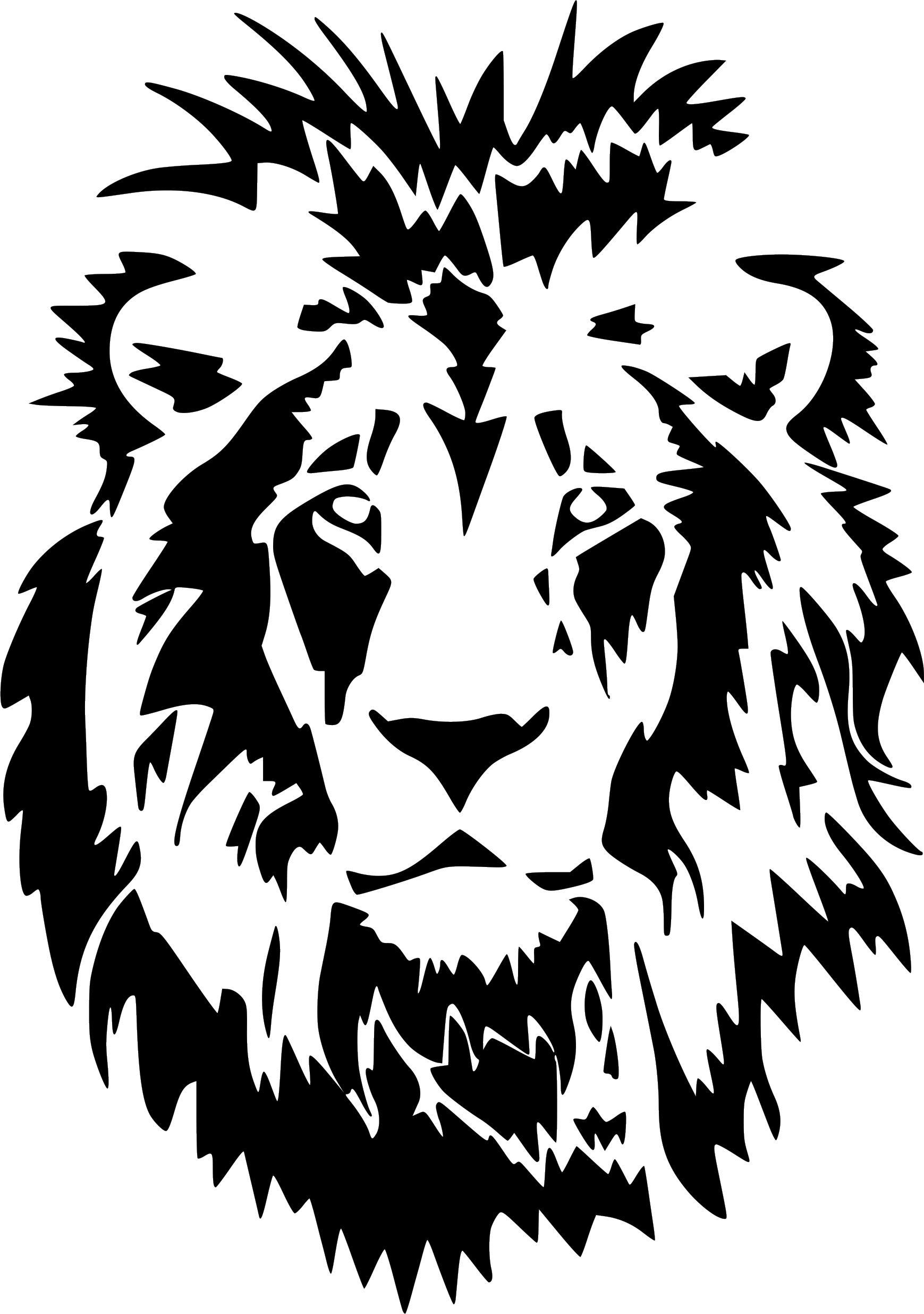 Lion Head Animal Art Graphic Vinyl Sticker Car Truck Wall Laptop ... 1a7ba4a61c