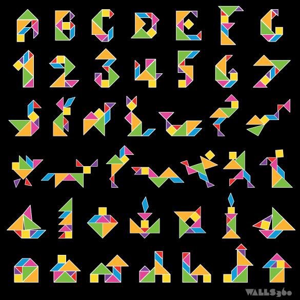 tangram applikationen zeichnen und malen pinterest
