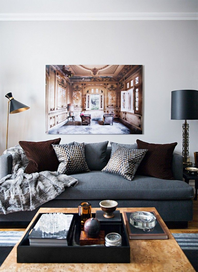 35 Cozy Mens Apartment Masculine Decor Bachelor Pad Living Room