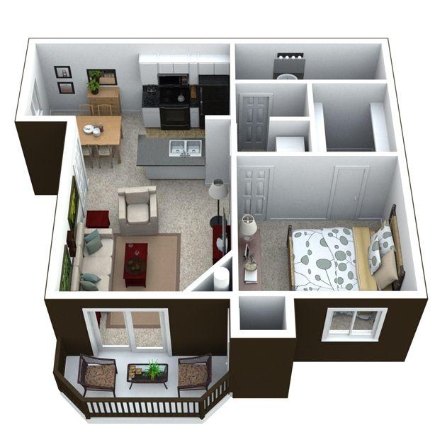 Pet Friendly 3 Bedroom Apartments: House Floor Plans, House Plans, Small House Plans