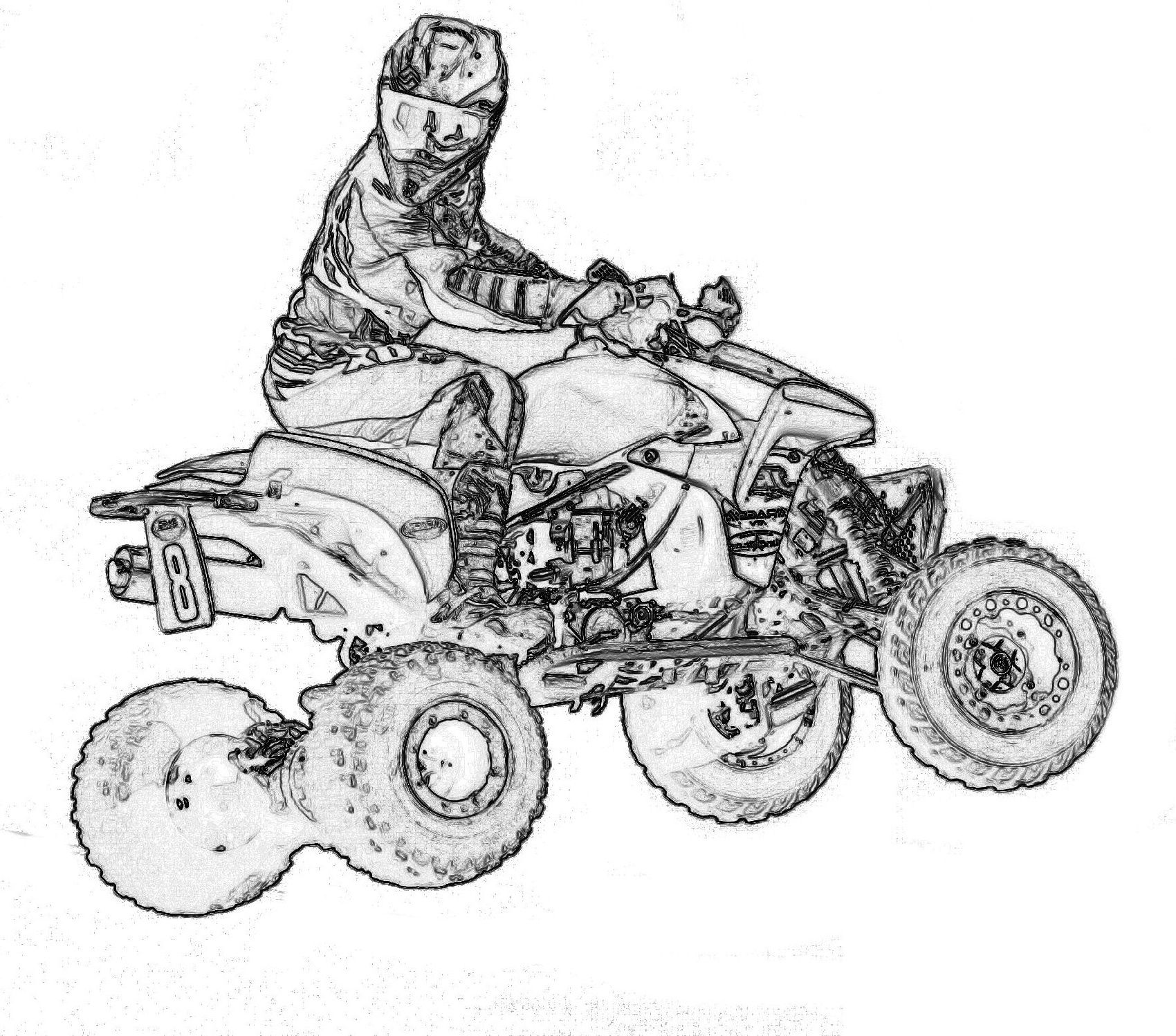 Four Wheeler Coloring Pages
