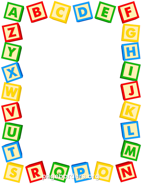 Printable Alphabet Blocks Border. Use The Border In Microsoft Word