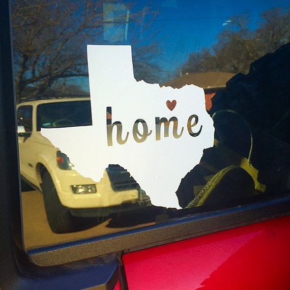 Texas car decal texas window decal state by ayellowrosedesigns
