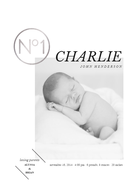 n 1 announcement template customize add text and photos print