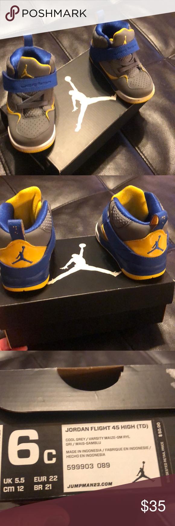 Jordan infant flight 45 gray/blue