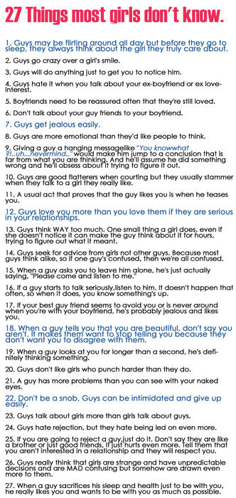 Things guys dont like in a relationship