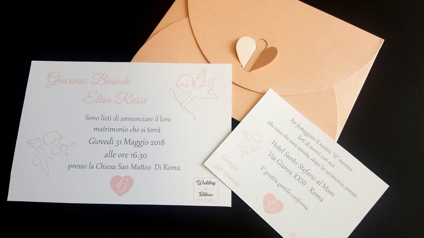 Partecipazioni Personalizzate Italia Wedding Tableau Design Partecipazione Personalizzata Tema Angeli Partecipazione Design Matrimonio