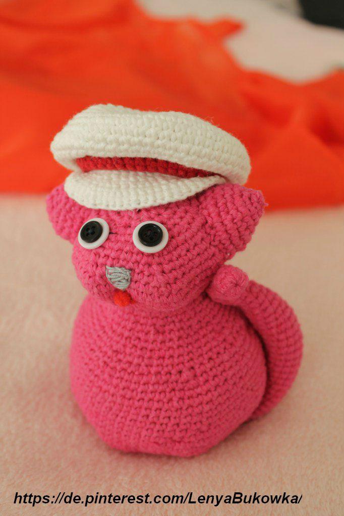 crochet cat, gehäkelte Katze, вязаная  кошка