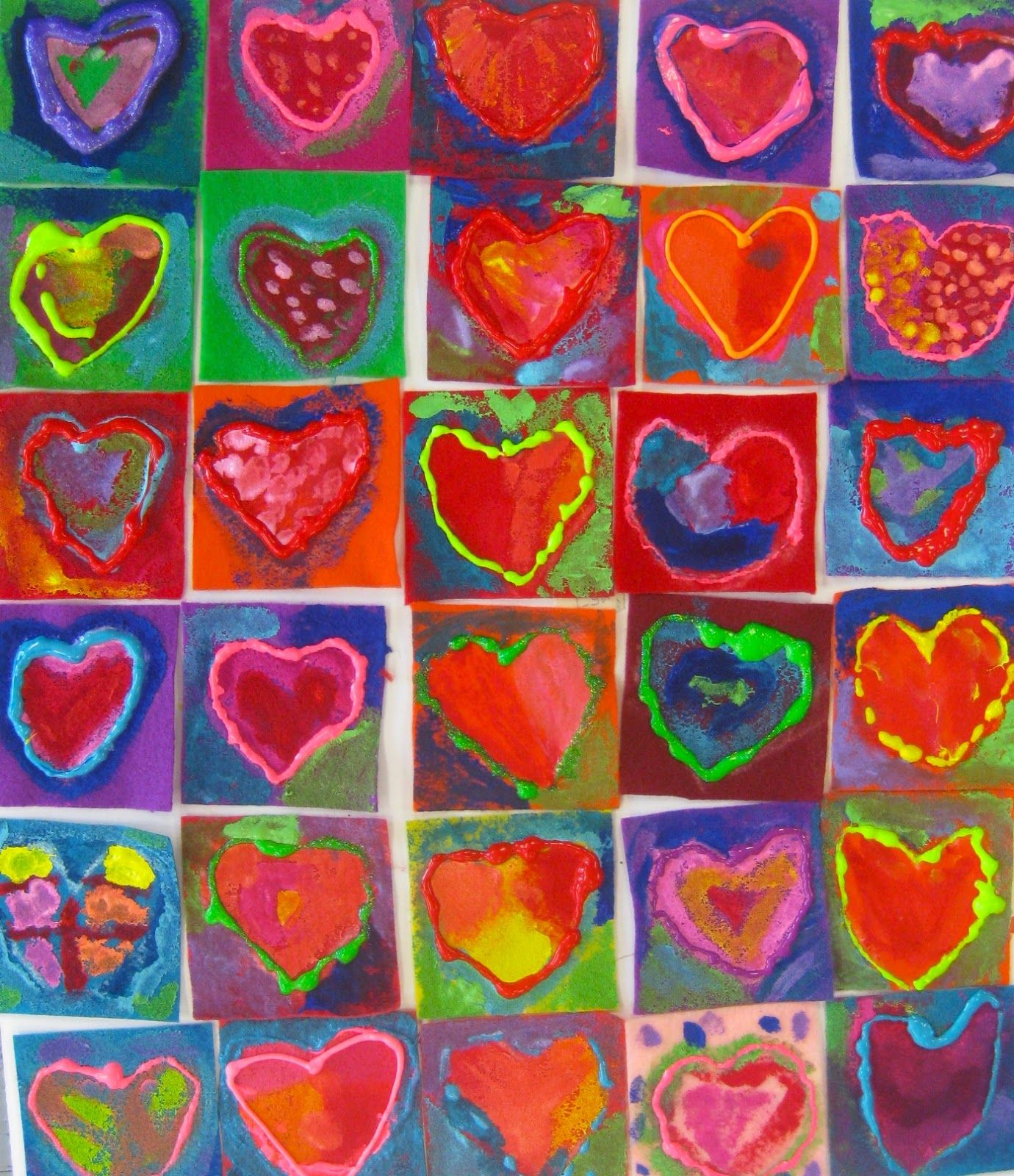In The Art Room Our School Has Heart Mural Project Part