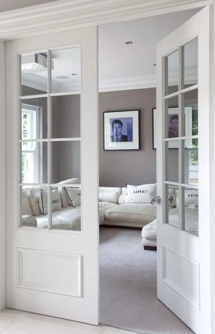Small French Door Design Ideas Pictures Remodel And Decor French Doors Interior French Doors Bedroom Narrow French Doors