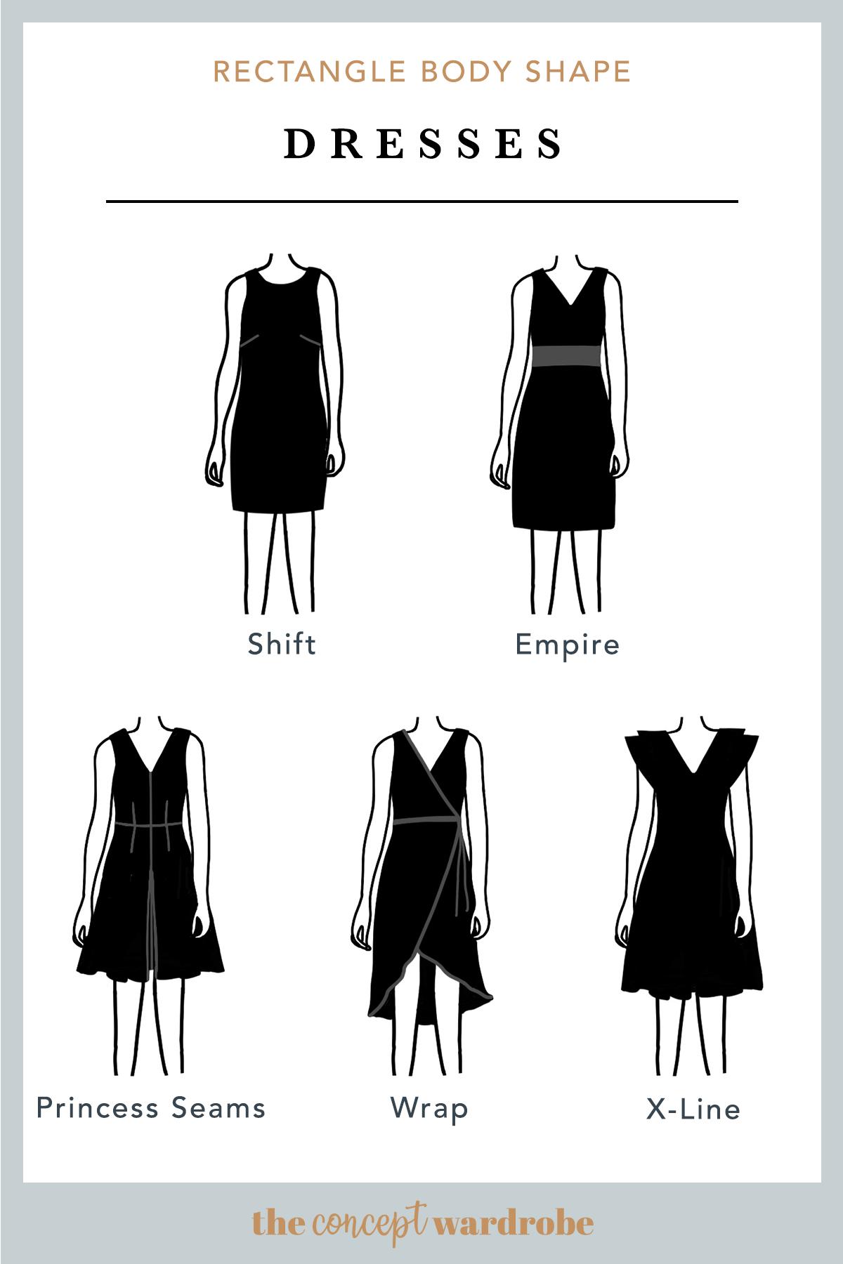 Rectangle Body Shape Dresses Rectangle Body Shape Rectangle Body Shape Outfits Body Shapes