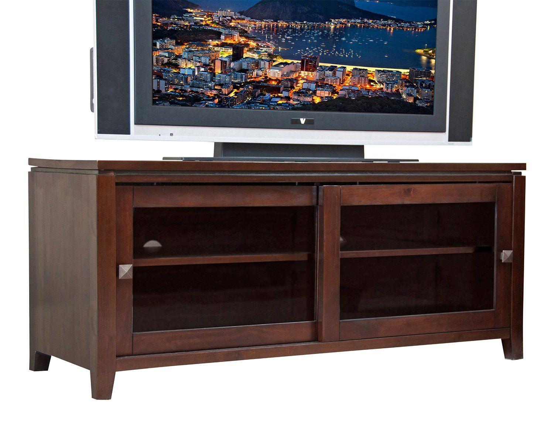 Amazon Com Simpli Home Cosmopolitan Tv Stand 46 W X 21 H Coffee Brown Television Stands Tv Media Stands Tv Stand Brown Simpli Home
