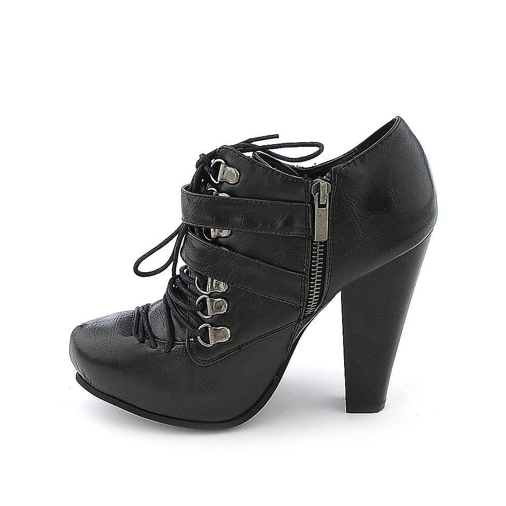 b26566524322 Bamboo Magnet-05 womens platform high heel ankle boot