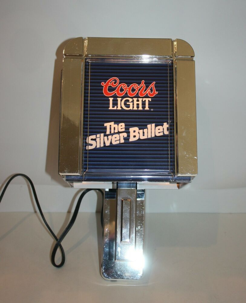 Coors Light The Silver Bullet Wall Lamp Light Sconce Great Condition Coors