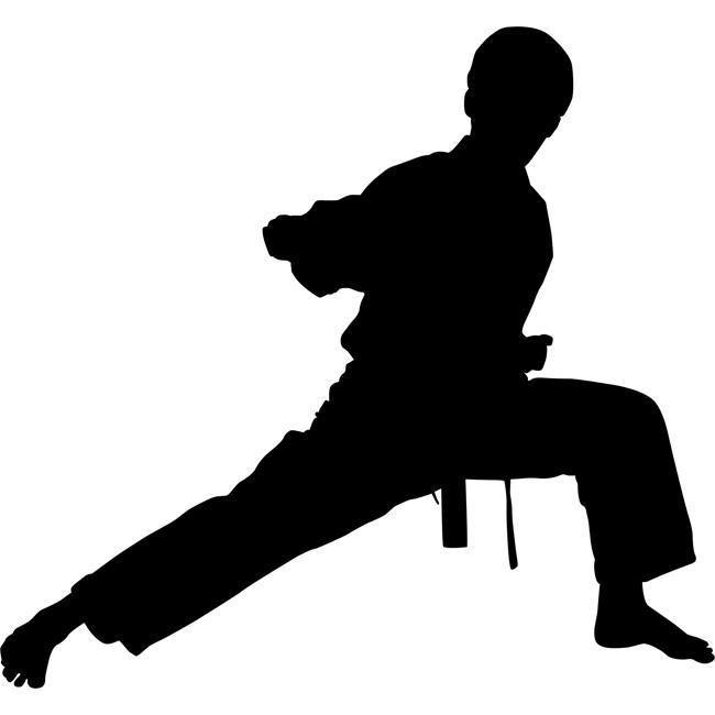 Middle Punch Karate Stencil Siluet Pencak Silat Gambar