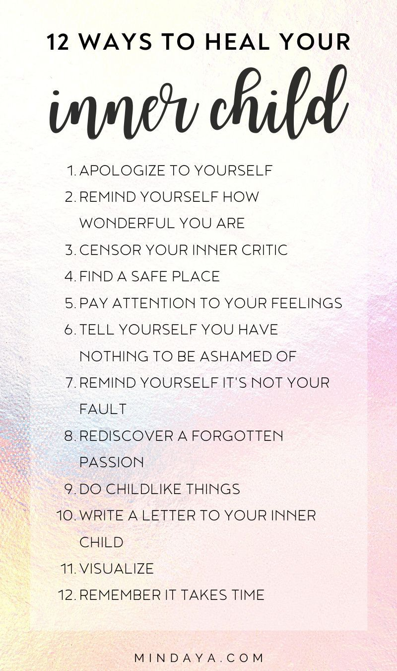 How to Heal Your Inner Child | Mindaya