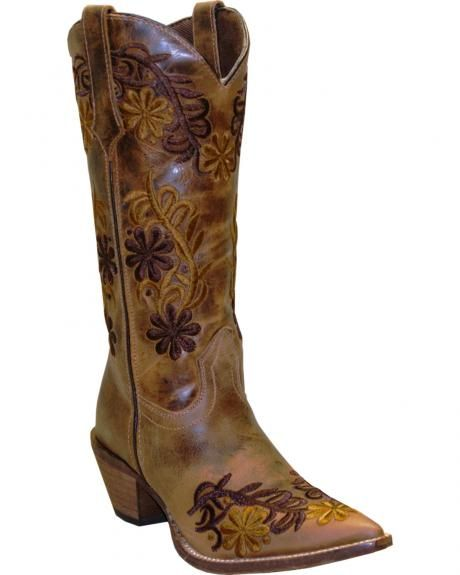 Rawhide By Abilene Boots Women S Brown Floral Cowgirl Boots Pointed Toe Sheplers Abilene Boots Boots Cowgirl Boots