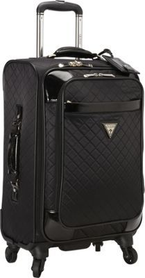Guess Travel Gleem 4 Wheel 20 Inch Spinner Upright Black Via Ebags