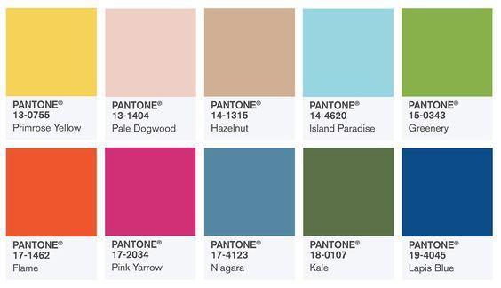Couleurs Tendances Printemps Ete 2017 Visuel Pantone Color