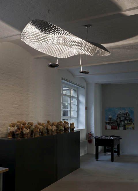 modern led pendant light cosmic angel by ross lovegrove. Black Bedroom Furniture Sets. Home Design Ideas