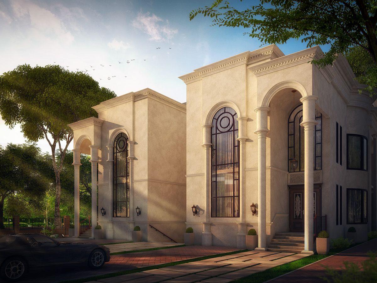 Residential villa in ksa on behance al muna for Architecture facade villa