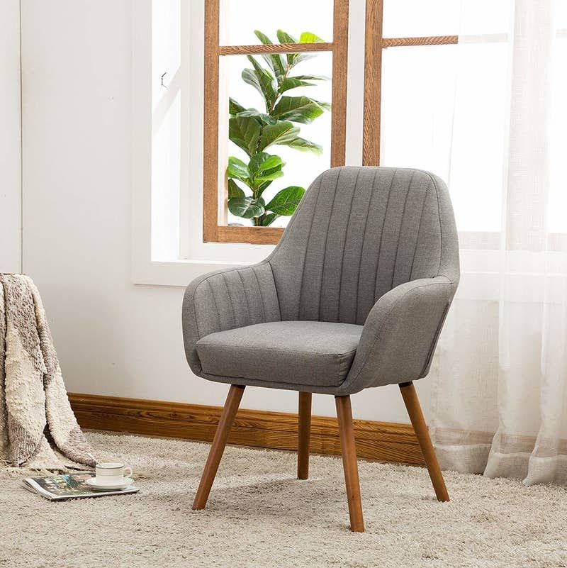 29 Inexpensive Pieces Of Decor For Anyone Who Spends Most Of Their Money On Rent In 2020 Fabric Accent Chair Accent Chairs Furniture