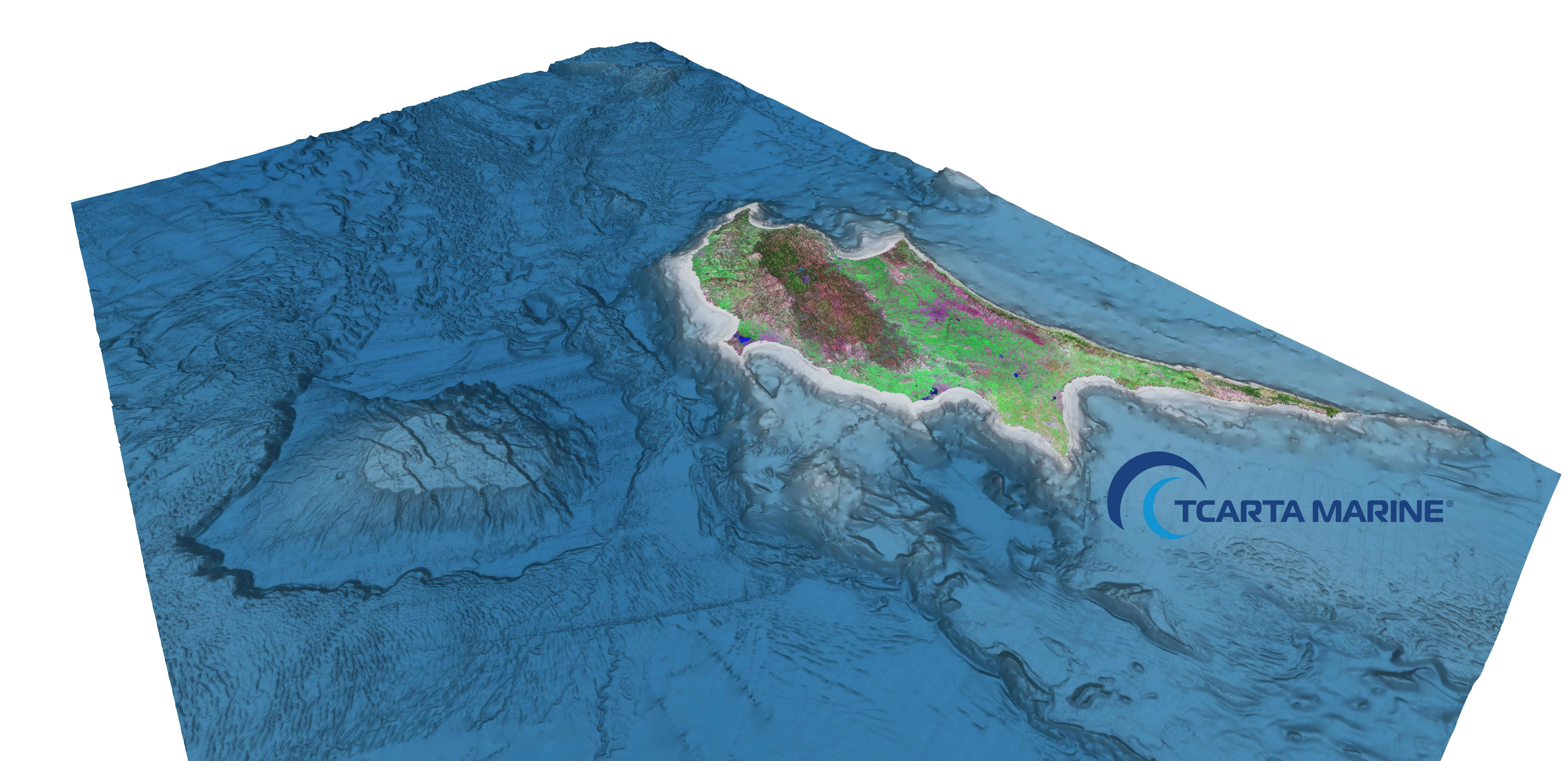 A 3d View Of Bathymetry Data Surrounding Cyprus Showing The