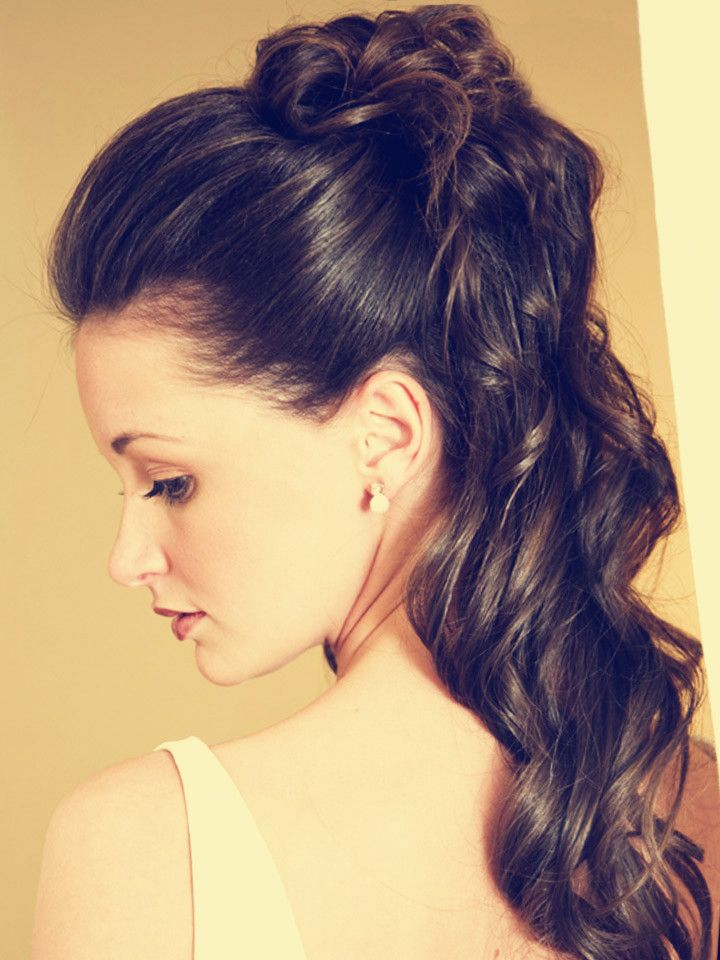 Give your wavy ponytail more volume! | Party hairstyles for long hair ...