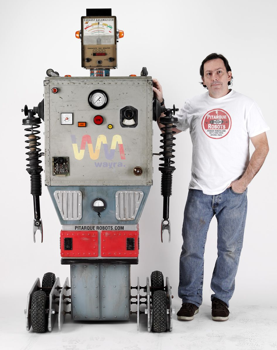Some amazing robots made from recycled materials by