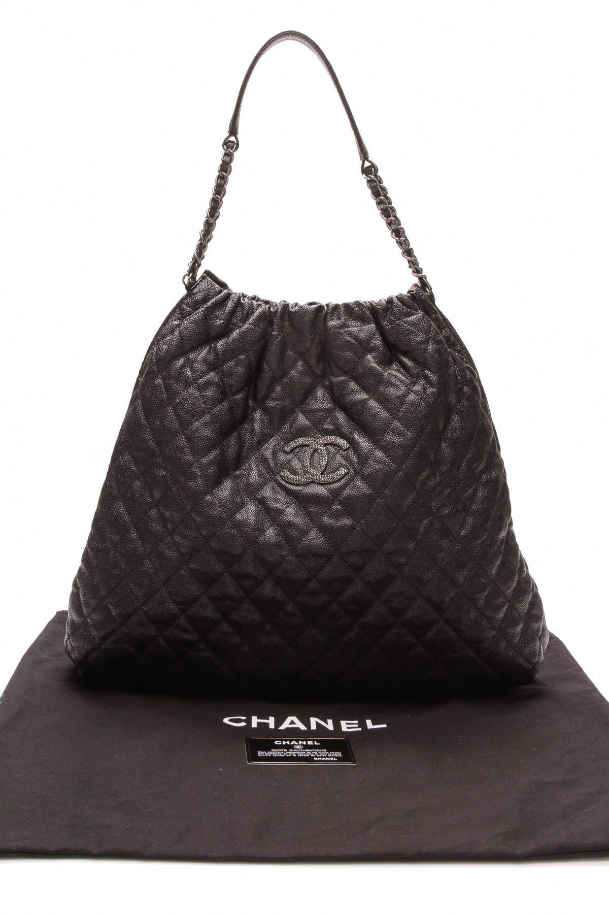 Chanel Large Elastic Tote Bag - Black  Chanelhandbags  177ef768c01